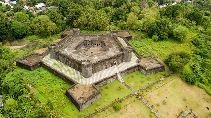 Aerial view of Banda Neira in Indonesia