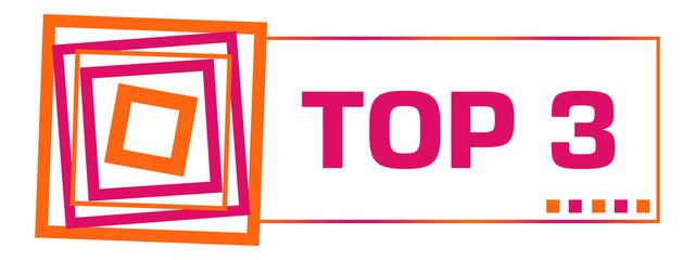 Top Three Pink Orange Squares Horizontal