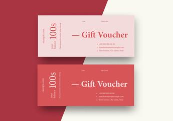 Pink Gift Voucher Layout