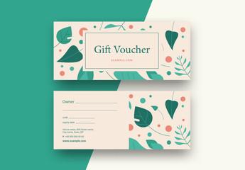 Floral Gift Voucher Layout