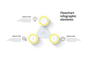Three Step Infographic Layout