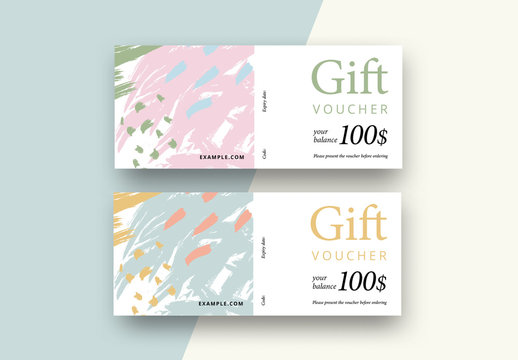 Abstract Gift Voucher Layout