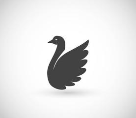 Swan or duck  icon vector