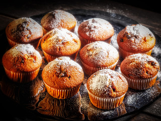 cupcakes and muffins in baking dish