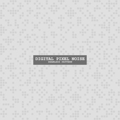 Digital seamless square white noise pattern