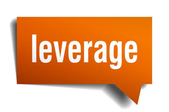 leverage orange 3d speech bubble