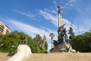 Porto ALegre, Brazil: the Júlio de Castilhos Monument to the center of Matriz Square (Praça da Matriz) , Porto Alegre, Rio Grande do Sul, Brazil