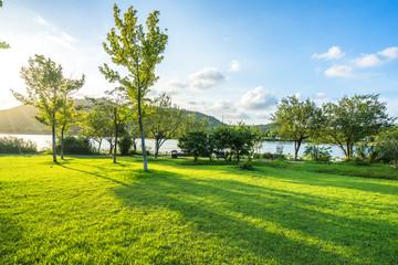 Keuken foto achterwand Lime groen landscape of west lake in hangzhou china