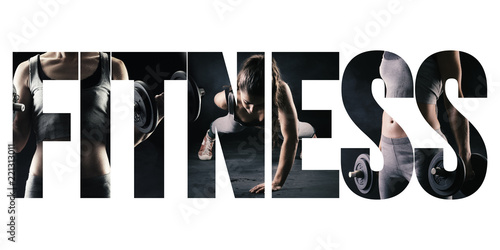 Fototapete Fitness, healthy lifestyle and sport concept