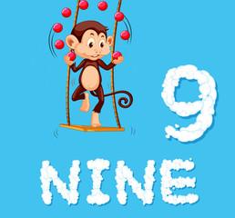 Monkey juggling nine ball