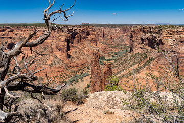 Spider Rock at Canyon De Chelly National Monument in Arizona's Four Corners Region