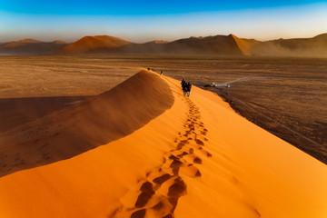 Huge dune and tourists