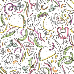 Taco and burrito pattern