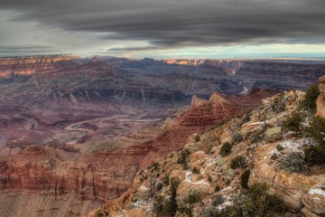 The Grand Canyon National Park is a Major Landmark in the State of Arizona
