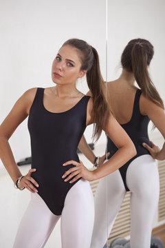 Fitness woman in gymnastic studio