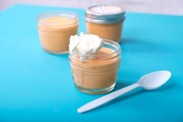 cream cheese and gelatin keto dessert with whipped cream