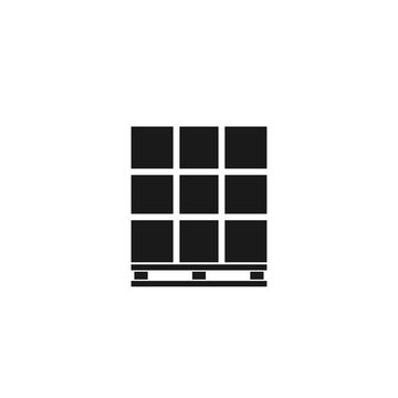 Pallet with boxes silhouette icon