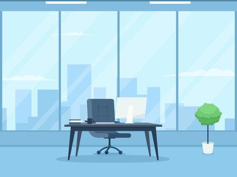 Empty ceo office interior.