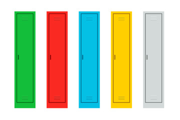 Colorful Metal Lockers set