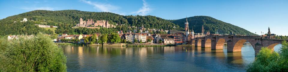 Heidelberg Panorama mit Schloss und Alte Brücke