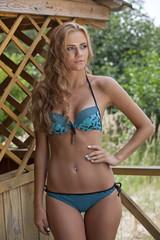 Woman in bikini outdoors
