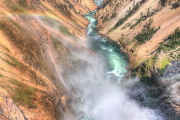 Yellowstone is a Popular National Park in Montana, Wyoming, and Idaho