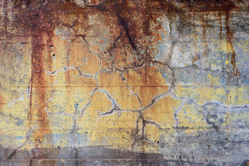 Rusted painted grunge concrete wall background texture. High resolution pattern