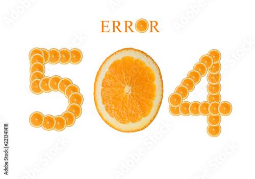 Web page 504 gateway timeout, server error