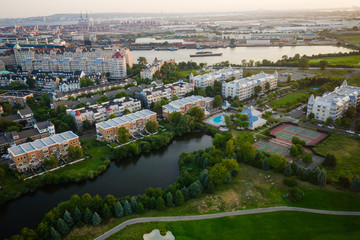 Aerial View of Jersey City and NYC