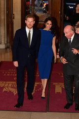 Britain's Duke and Duchess of Sussex, Prince Harry and his wife Meghan, attend a gala concert in support of charities for military veterans who face mental health challenges, in London