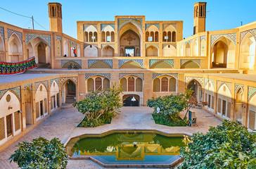 The main religious landmark of Kashan, Iran