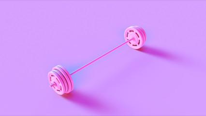 Pink Barbell 3d illustration 3d rendering