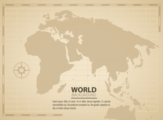 World vintage background
