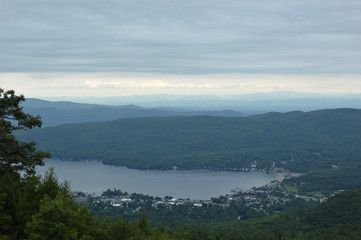 Lake George New York Upstate Adirondacks Region Mountain Top Scenic View