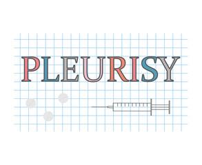Pleurisy word on checkered paper sheet- vector illustration