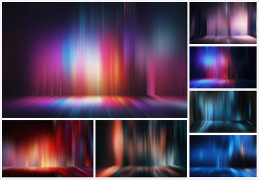 12 Abstract Waterfall Light Effect Backgrounds