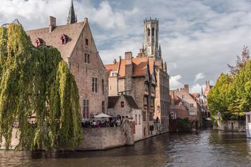 Door stickers Bridges Bruges, Belgium