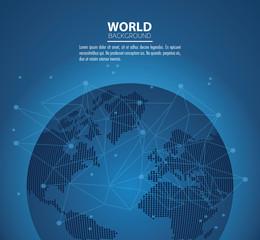 World modern background