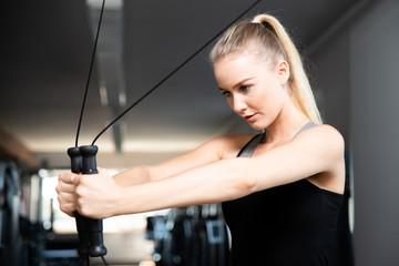 Training an einem Seilzug