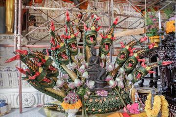 Temple Indo-Thai Art Wat Thung Si great Naga  Punpin  Surat Thani Thailand