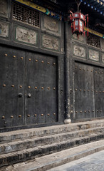 Chinese decoration, architecture and ornaments, sunset photography at Pingyao Ancient City, Unesco heritage site, China