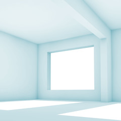 White abstract interior background. 3 d render