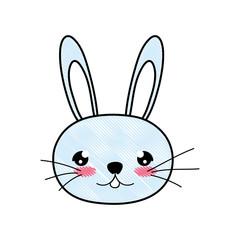 doodle cute rabbit male head animal