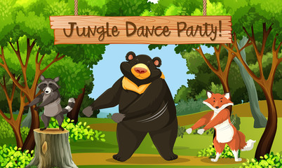 Jungle dance park scene