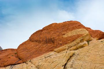 Sandstone rocks tower above