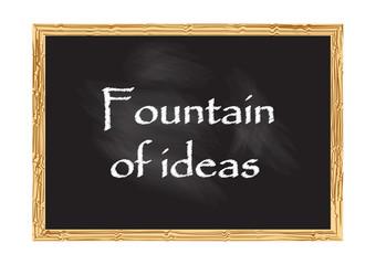 Fountain of Ideas blackboard record Vector illustration for design