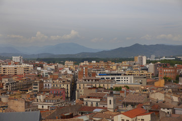 View of Girona in Catalonia, Spain