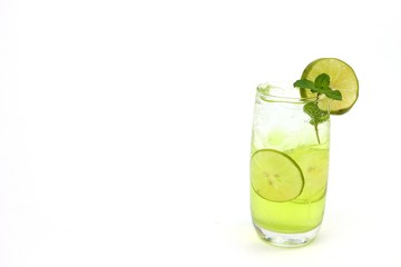 Fresh lemon juice cool drink