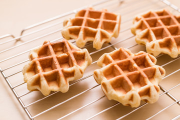 Baked waffle at home