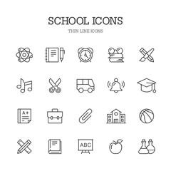 School line icons.